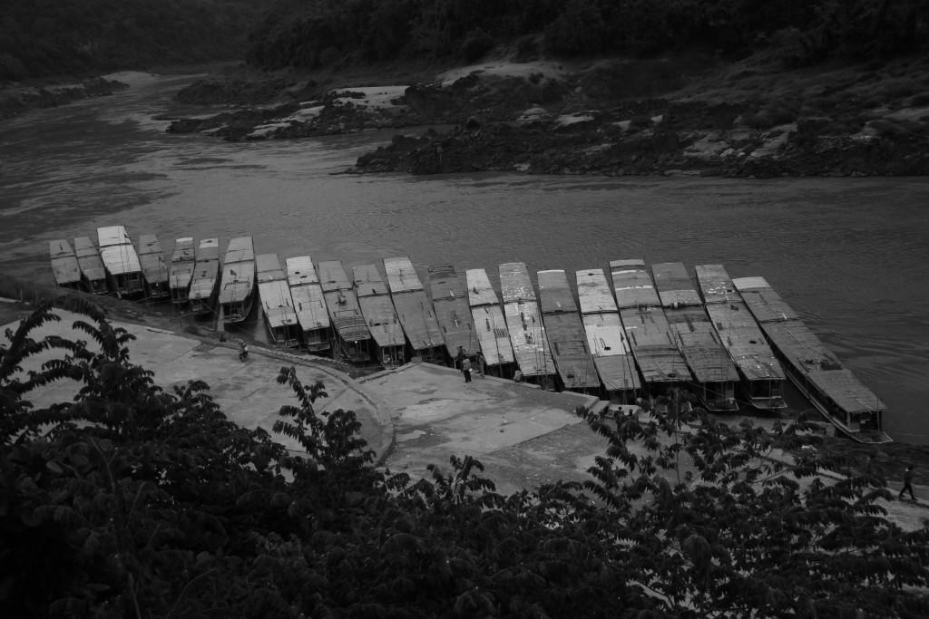 Les bateaux avant l'embarquement