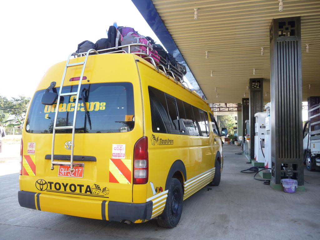 Bus pour le trajet Bagan -Lac Inle